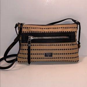 Fossil slim dot print shoulder bag purse